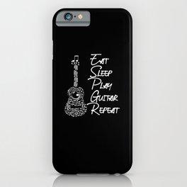 eat sleeps play guitar repeat iPhone Case