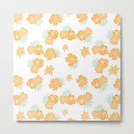 Petite Yellow Bouquet Metal Print