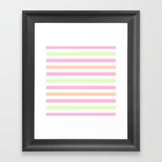 SHERBET STRIPES 2 Framed Art Print