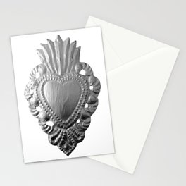 Silver milagro heart Stationery Cards