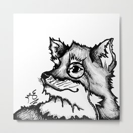 Dapper Fox  Metal Print