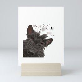 Curious Scottish Terrier Dog Mini Art Print