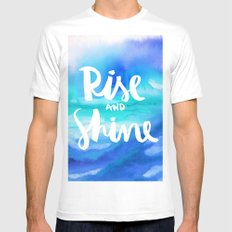 Rise & Shine [Collaboration with Jacqueline Maldonado] White Mens Fitted Tee MEDIUM