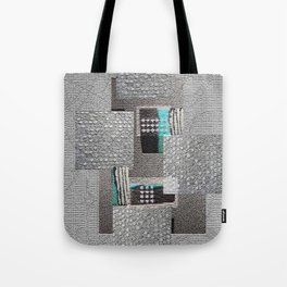 The Art of Grey Digital Collage Tote Bag