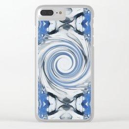Blue Portal Clear iPhone Case