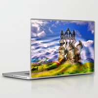 downton abbey Laptop & iPad Skins featuring Whitby Abbey by TK Photography