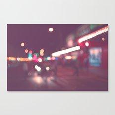 Street Bokeh Canvas Print