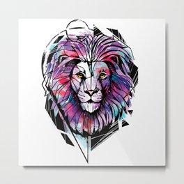 Lion Zion Metal Print