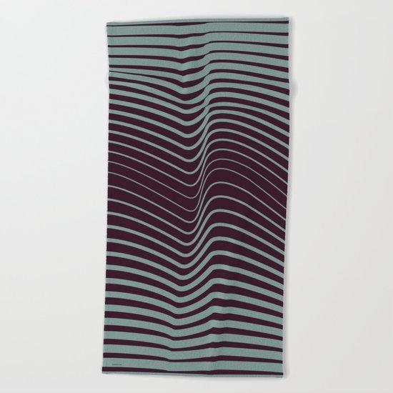 OpArt WaveLines 1 Beach Towel