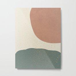 Minimalist Painting - Terra Green Metal Print