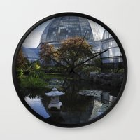 amy pond Wall Clocks featuring The Pond by Amy Claeys