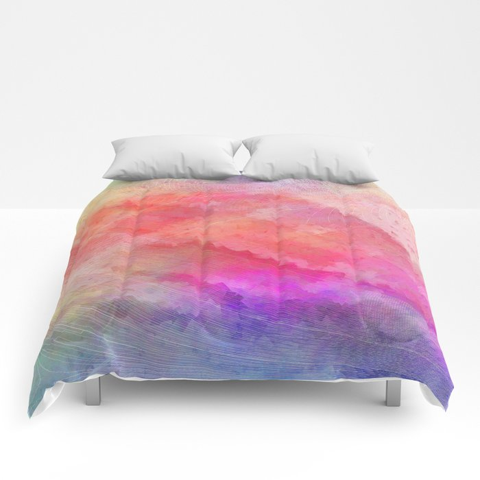 Multicolored abstract 2016 / 008 Comforters