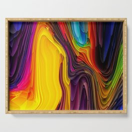 Melting Pot of Colors Abstract Serving Tray
