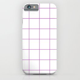 Graph Paper (Purple & White Pattern) iPhone Case