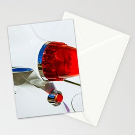 Red taillight of a white luxury car Stationery Cards