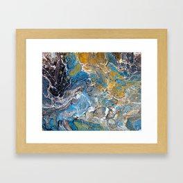 Mineralogy - Abstract Flow Acrylic Framed Art Print
