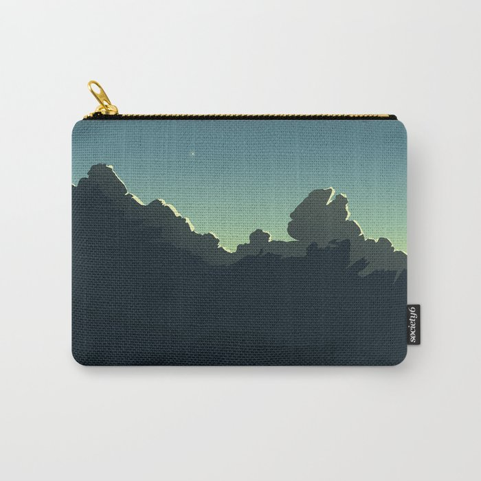 Cloudscape Blue and Green Carry-All Pouch