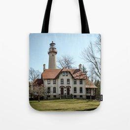 Grosse Point Lighthouse Evanston Illinois Lake Michigan  Tote Bag