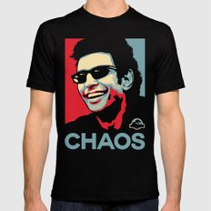 'Chaos' Ian Malcolm (Jurassic Park) MEDIUM Black Mens Fitted Tee