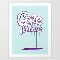 gore Art Prints featuring Gore j'adore by Iksoner