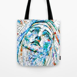Glass stain mosaic 8 - Madonna, by Brian Vegas Tote Bag
