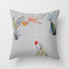 Goldfish Pond (close up #8) Throw Pillow