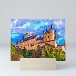 Castle Alcazar, Segovia, Spain. Mini Art Print