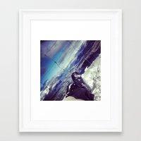 snowboard Framed Art Prints featuring Queenstown by Snowboard by Brendan Rafferty