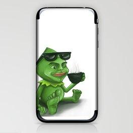Coffe Frog iPhone & iPod Skin