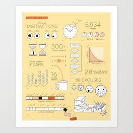 Procrastination By The Numbers Art Print