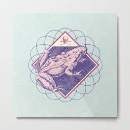 Pastel Poison Frog Metal Print