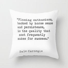Flaming enthusiasm Throw Pillow