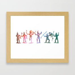 Neon Indians Framed Art Print