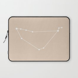 Capricorn Zodiac Constellation - Warm Neutral Laptop Sleeve