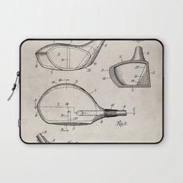 Golf Driver Patent - Golf Art - Antique Laptop Sleeve