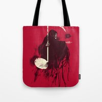 death Tote Bags featuring Death Note by Tobe Fonseca