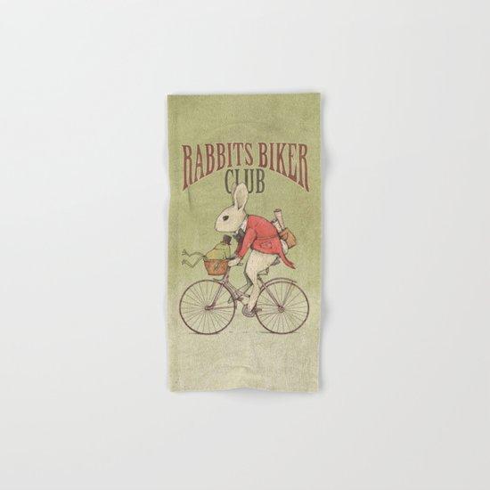 Rabbits Biker Club Hand & Bath Towel