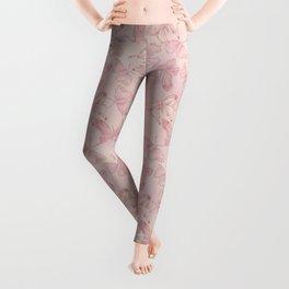 Butterfly Pattern soft pink pastel Leggings