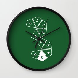 Unrolled D10 Wall Clock