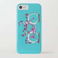 brompton iPhone & iPod Cases featuring Butterfly Bicycle by Wyatt Design