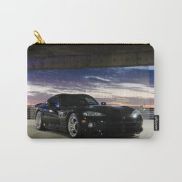 Dodge Viper in the garage with dramatic skys 2 Carry-All Pouch
