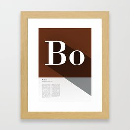 The Typographic Alphabet: Bodoni (2/26) Framed Art Print