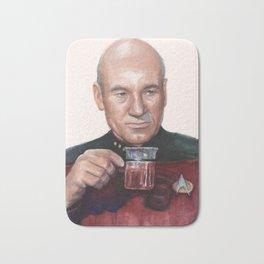 Tea. Earl Grey. Hot. Captain Picard Star Trek | Watercolor Bath Mat