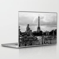 eiffel tower Laptop & iPad Skins featuring Eiffel Tower by Ann Yoo