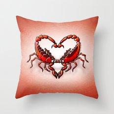 Loving Scorpions Throw Pillow