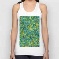 ikat Tank Tops featuring Ikat Floral by Selkiesong
