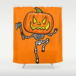 Pumpketon is coming for you Shower Curtain