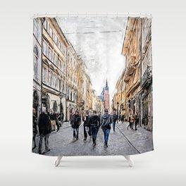 Krakow Florianska street #cracow #krakow Shower Curtain