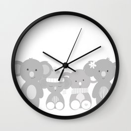 Koala bears Wall Clock