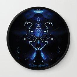 Oil on Water, in Blue Wall Clock